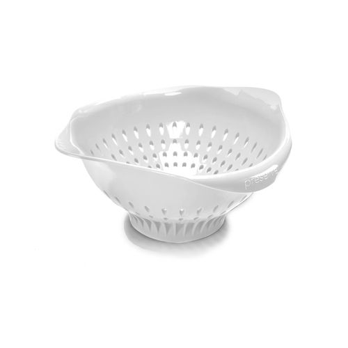 Kitchen Tools Made In Usa: White - Large Kitchen Colander - Made In The USA