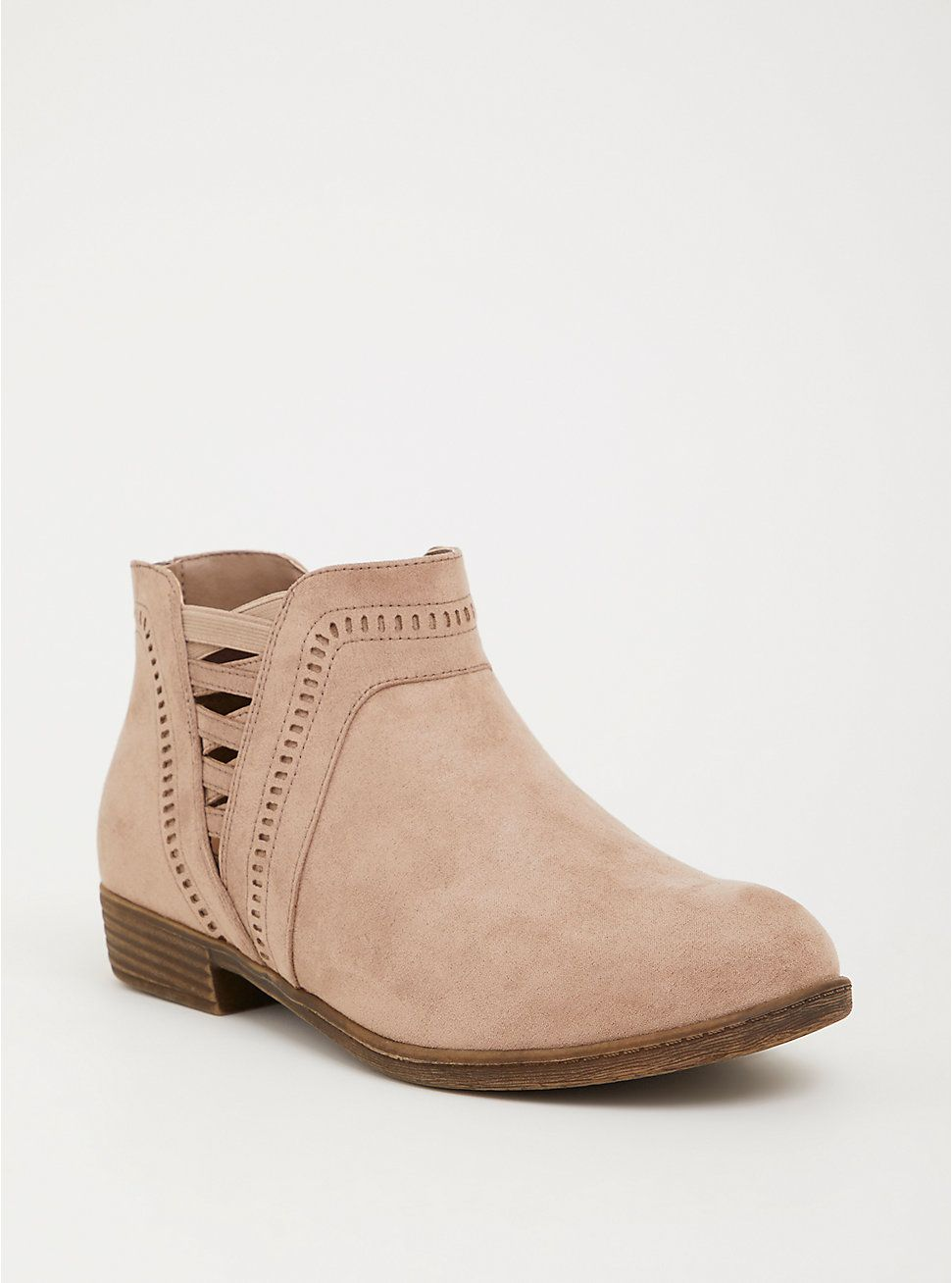 015383ddc946 Plus Size Taupe Side Strap Ankle Bootie (Wide Width)