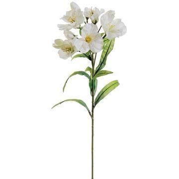 Silk alstroemeria spray in ivory 25in tall white flower new silk alstroemeria spray in ivory 25in tall mightylinksfo