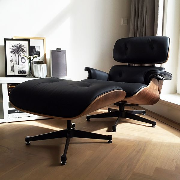 GroBartig Eames Lounge Chair Black