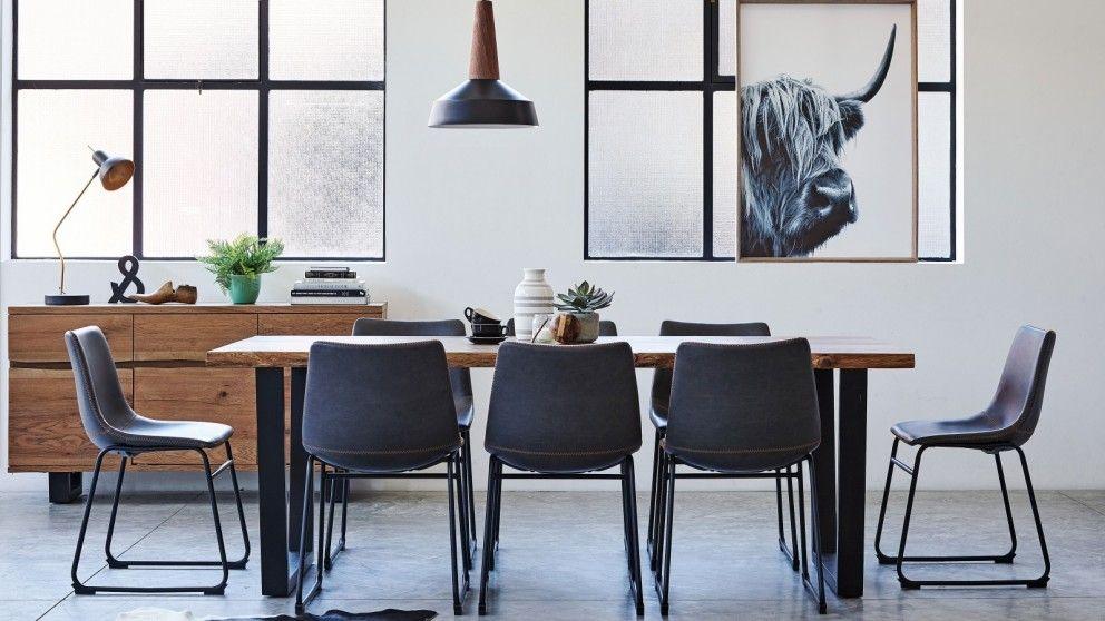 Timo 9 Piece Rectangular Dining Suite Furniture Room Outdoor