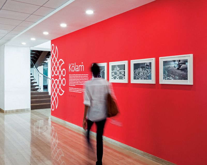 High Quality The Graphic Designers At Tsk Design, Were Inspired By Traditional Indian  Folk Art When They Created A Variety Of Wall Motifs, For The Head Office Of  SanDisk ...