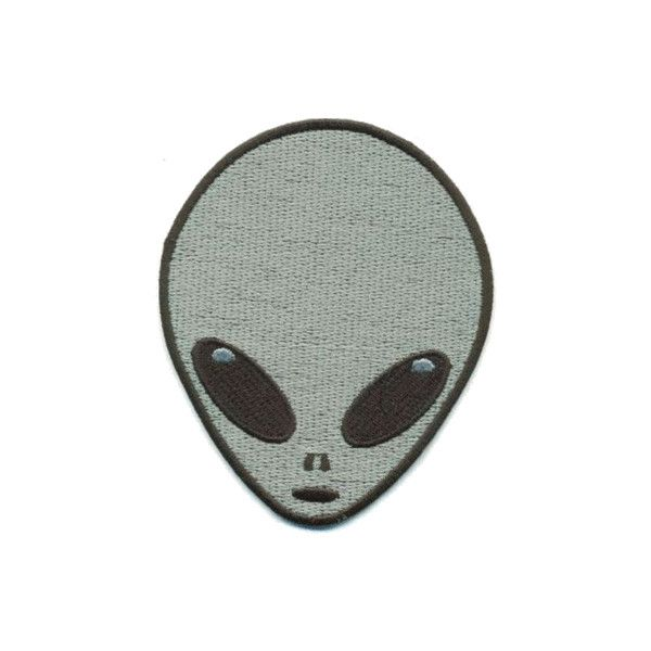 fashion Cool hipster Grunge space alien transparent patch ❤ liked on Polyvore featuring accessories, fillers, patches, badge and alien