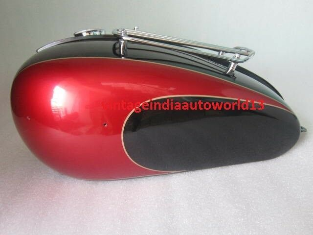 Business & Industrial New Triumph T150 Black And Cherry Painted Petrol Tank With Grill Rack And Petro