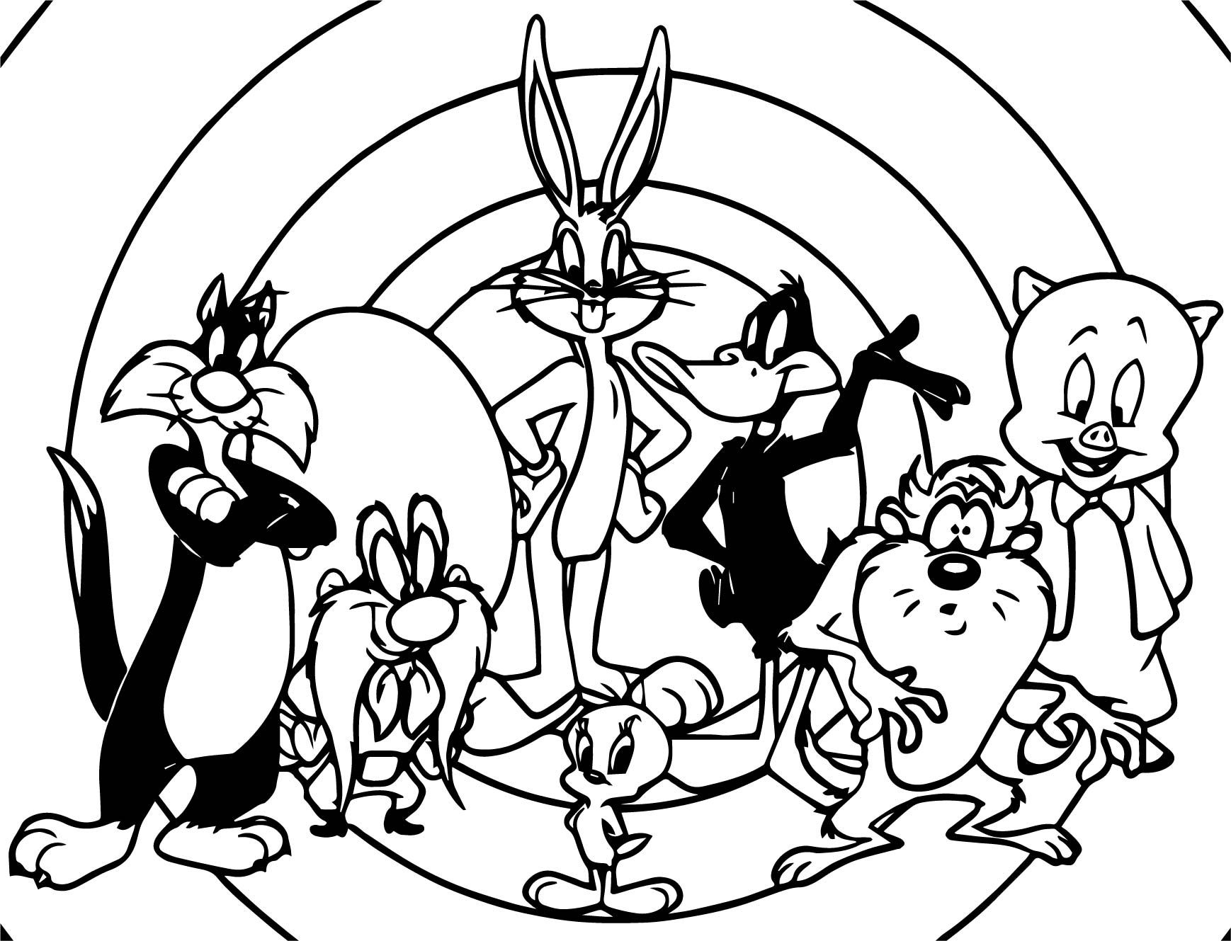 awesome Just The Looney Tunes Coloring Page  Cartoon coloring