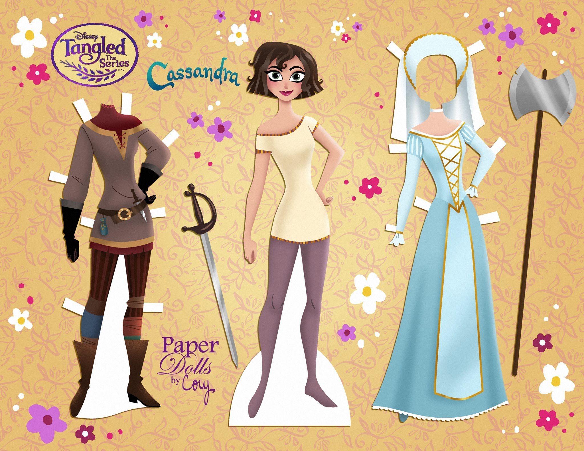 Cassandra Paper Dolls Disney Paper Dolls Disney