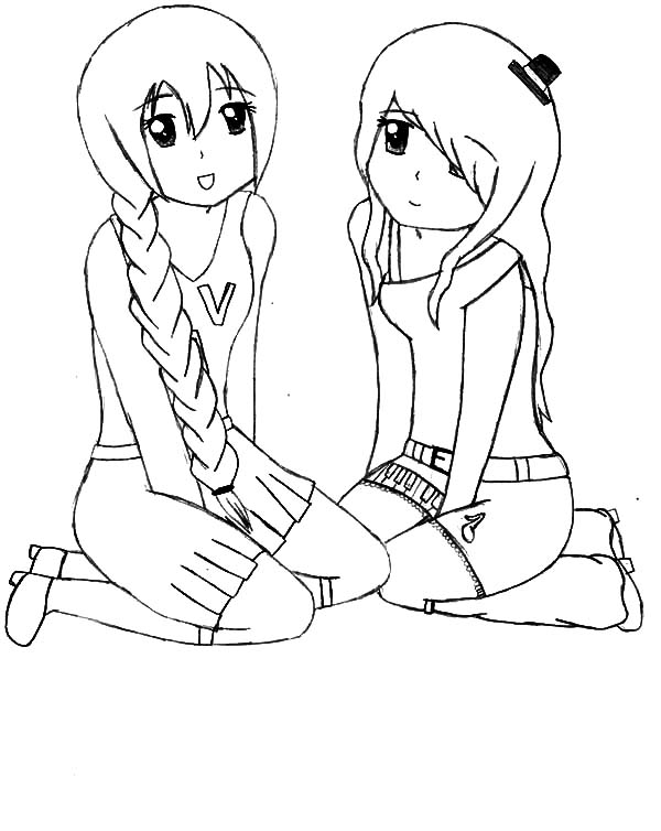 Utau And Nana Best Friends Coloring Pages Best Place To Color Best Friend Drawings Drawings Of Friends Friends Sketch