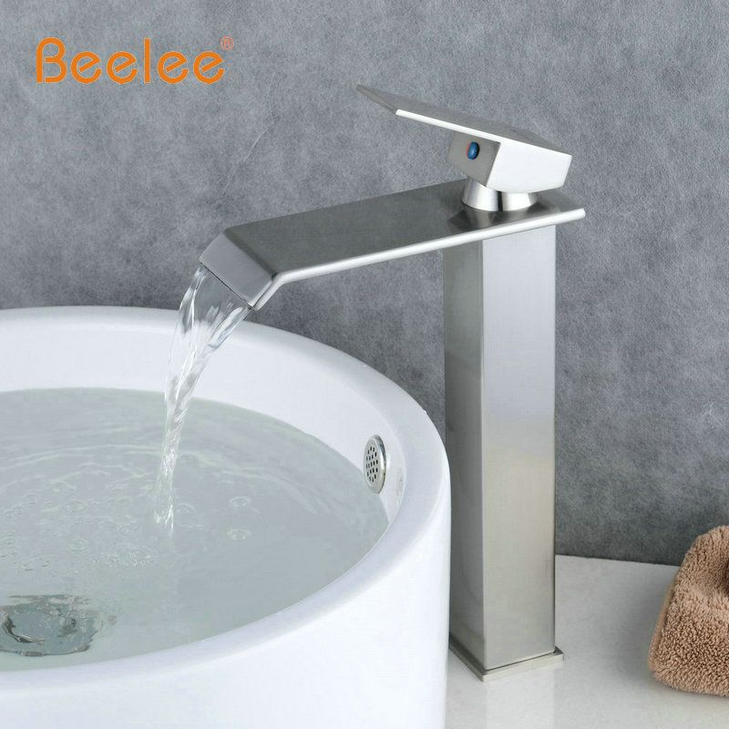 Beelee BL0518NH Wholesale And Retail Chrome Finish Waterfall - Mitigeur Mural Salle De Bain