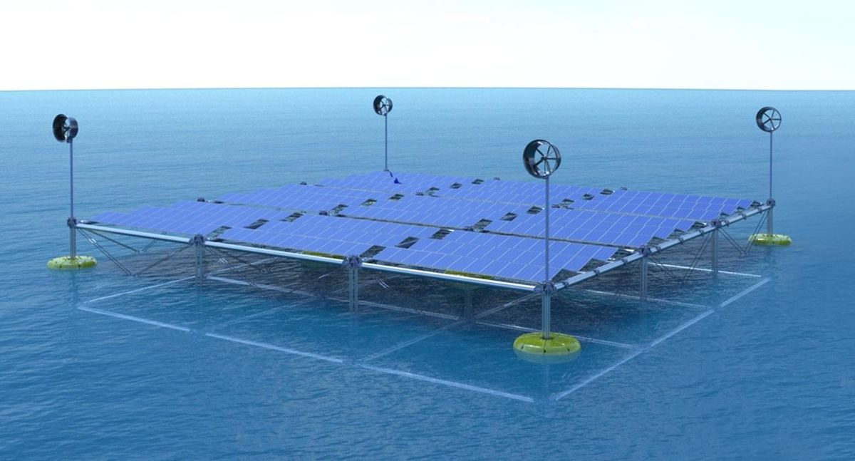 First Floating Ocean Hybrid Platform Can Generate Power From Waves Wind And Solar In 2020 Solar Solar Panel Manufacturers Renewable Energy Technology