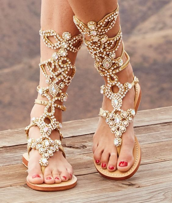 a6b7d947ec44 71 Eye-Catching Beautiful Sandal Designs for Gorgeous Women