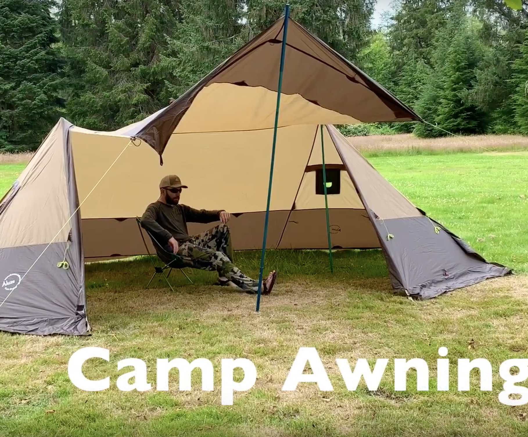 Twinpeak 5 Person Awning Tent With Stove Jack Quick Look Video Lightweight Camping Gear Camping Style Tent Stove