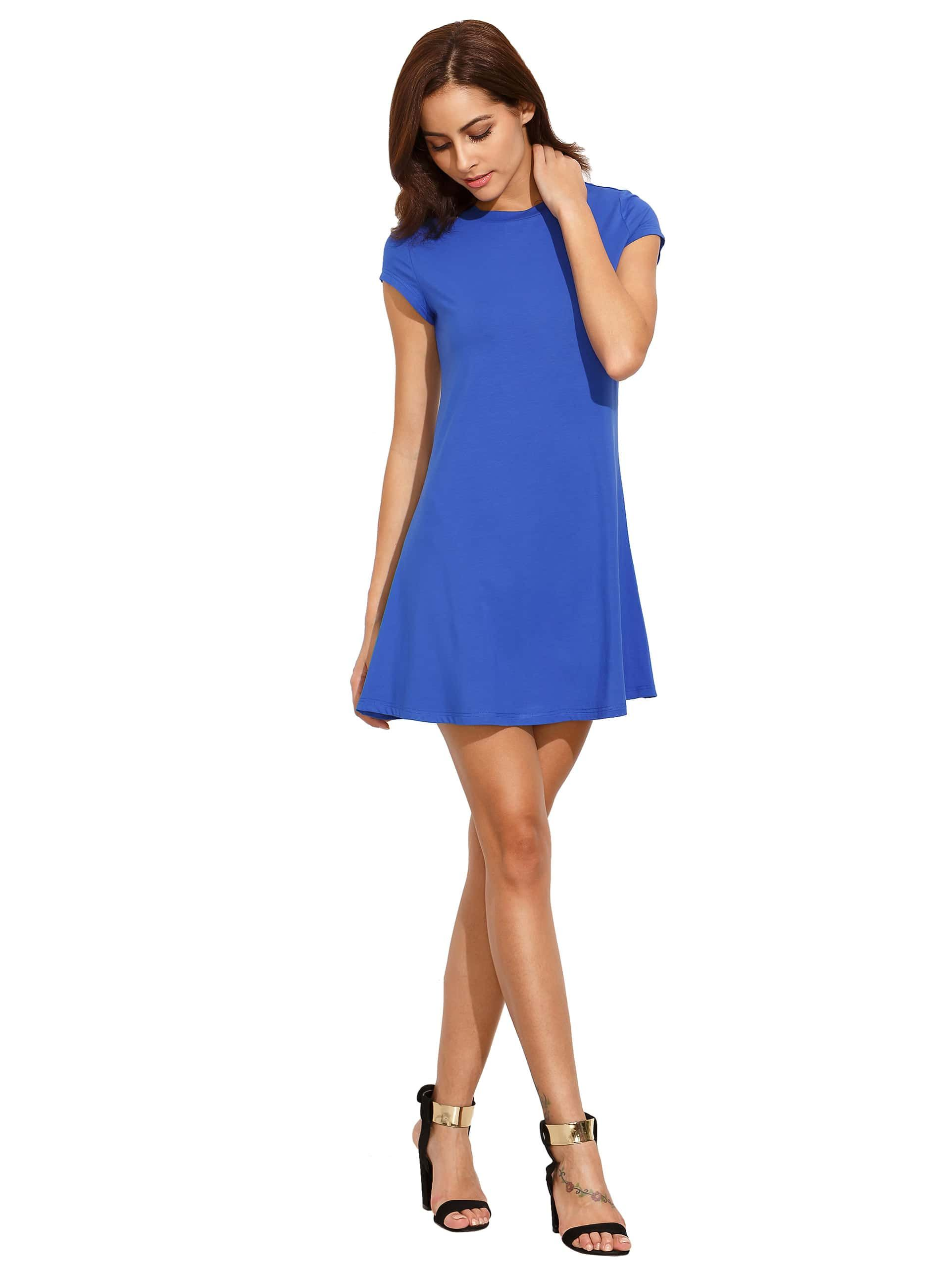 blaues kleid shein in 2020 | dunkelblaues kleid, kleider