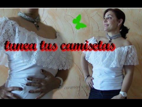 745af4694 CAMISETA BÁSICA PERSONALIZADA CON VOLANTE - YouTube
