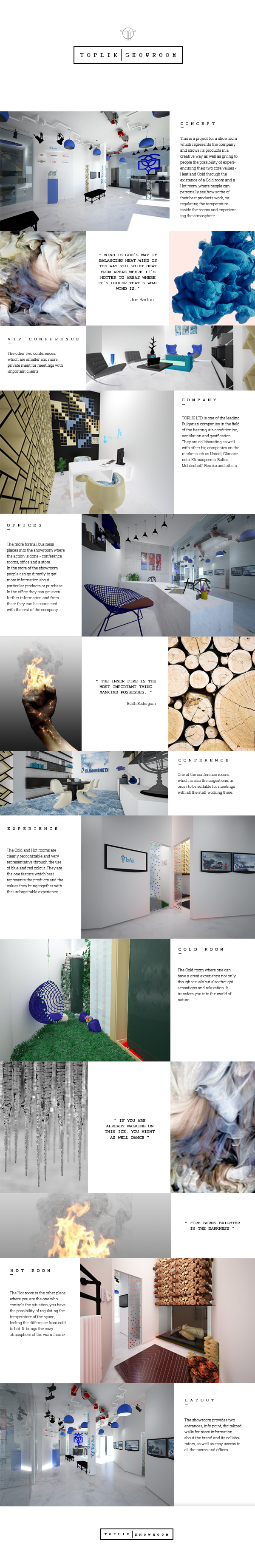 Toplik Showroom on Behance