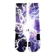 HoopSwagg Lightning Galaxy Custom Nike Elite Socks purchase this item at www.nbafaniam.com