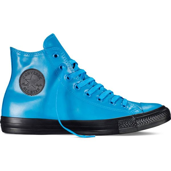 a8051091bfbecd Converse Chuck Taylor All Star Rubber – cyan space Sneakers ( 65) ❤ liked  on Polyvore featuring shoes