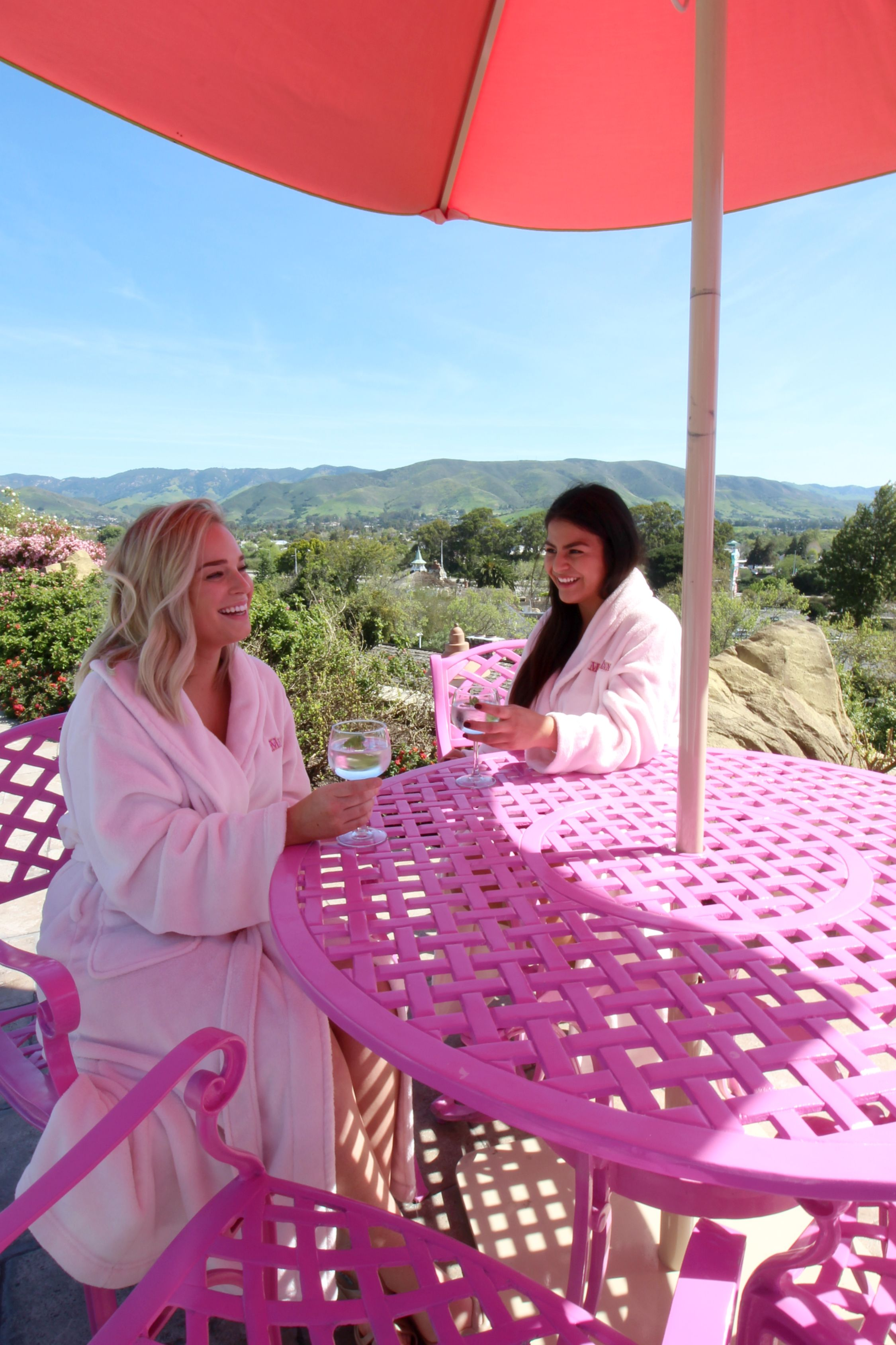 Awesome Cheers To Pink Robes, Pink Umbrellas, And Pink Patio Furniture!