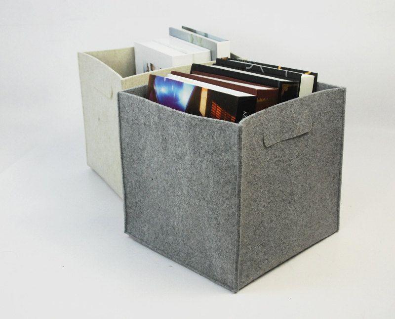 Felt Storage Box Lego Container Basket Kitchen Bin Bag Household Custom Made E1351