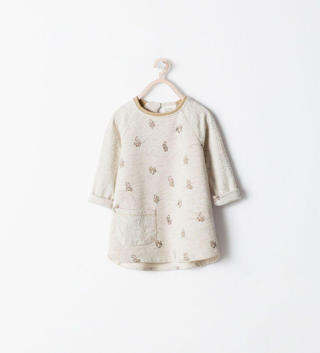 Image 1 Of Mixed Fabric Squirrel Print Dress From Zara Baby Meisje Kinderkleding Meisje
