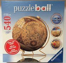Ravensburger historical world map 3 d jigsaw puzzle ball globe 540 ravensburger historical world map 3 d jigsaw puzzle ball globe 540 pc sealed gumiabroncs Choice Image