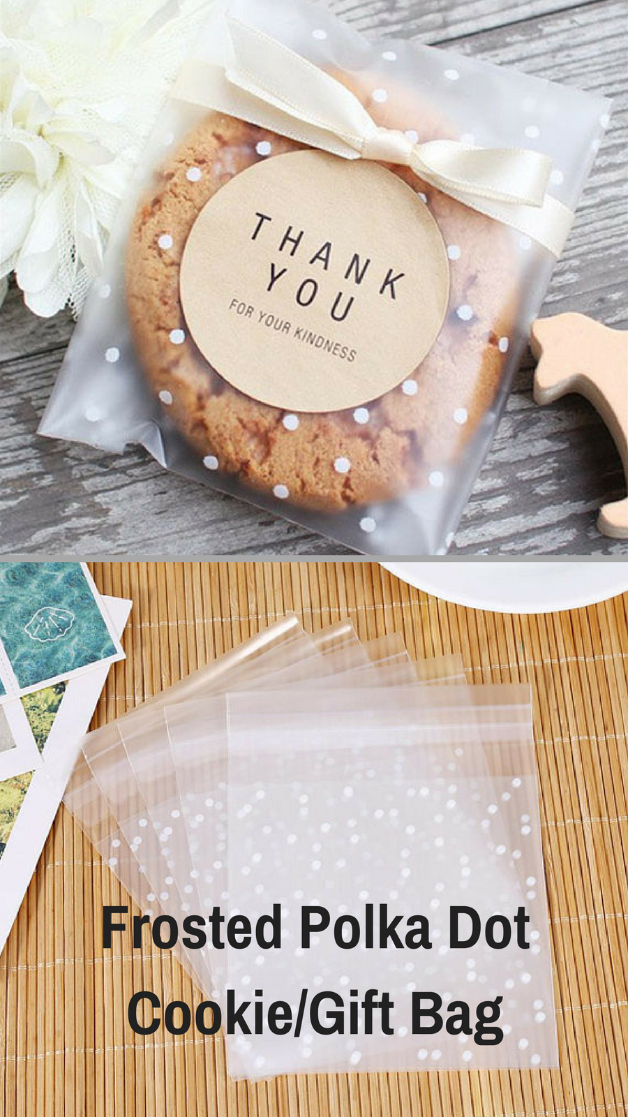 These Frosted Polka Dot Cookie Gift Bags Will Be Perfect For Giving My Cookies As Thank You Gifts I Love That The Are Resealable And Can Put Any