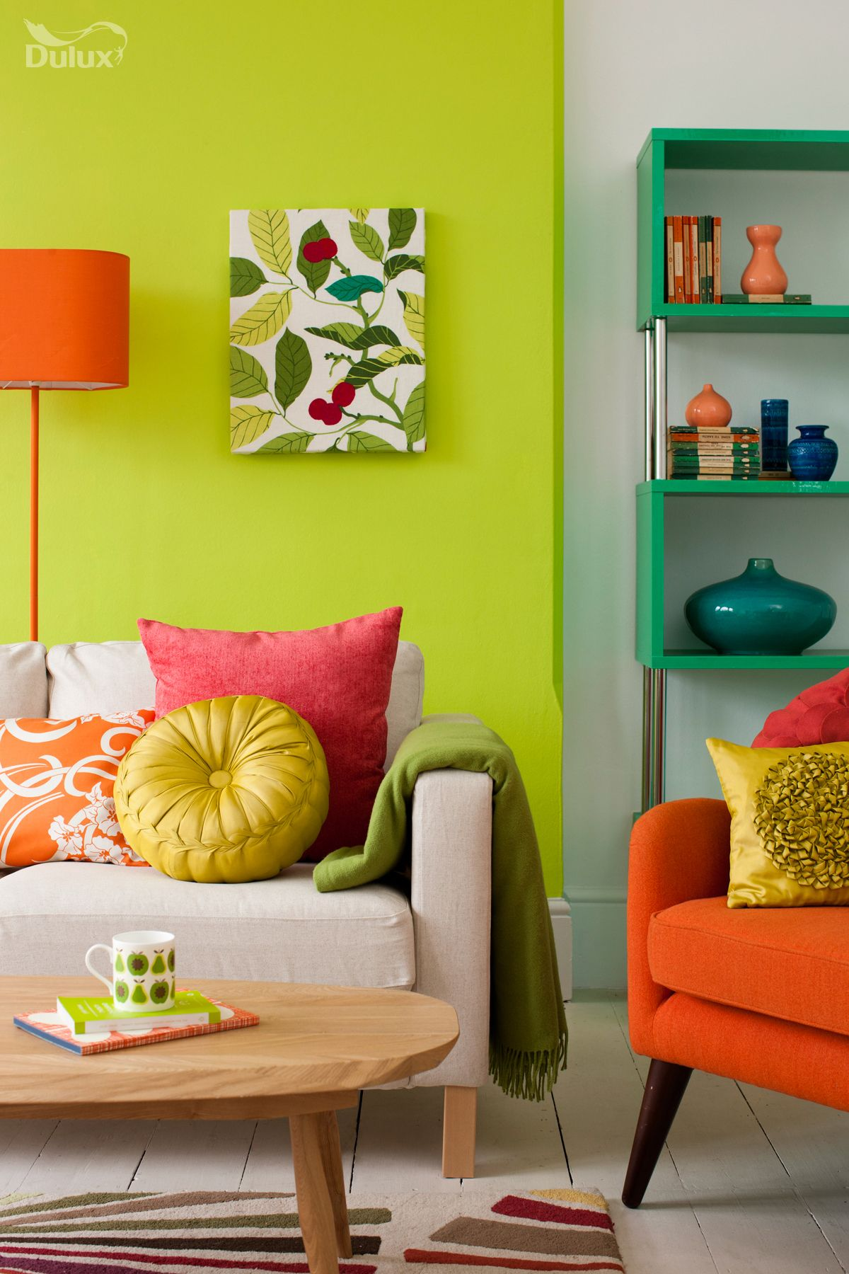 Lime green paint colors - For Dynamic Results Blend The Colours From Our Natural Surroundings By Combining Enlivening Greens With