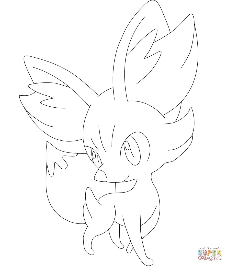 Fennekin Pokemon Coloring Page Coloring Pages Allow Kids To Accompany Their Favorite Characters Pokemon Coloring Pages Pokemon Coloring Cute Coloring Pages