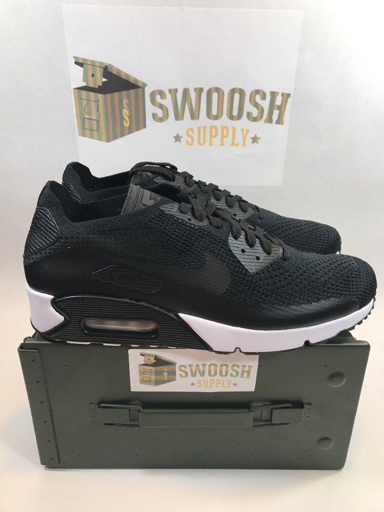 premium selection fa6df 69359 Nike Air Max 90 Ultra 2.0 Flyknit 875943-004 Black Men's Sizes 11.5 #Nike  #Running