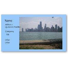 Chicago skyline business cards