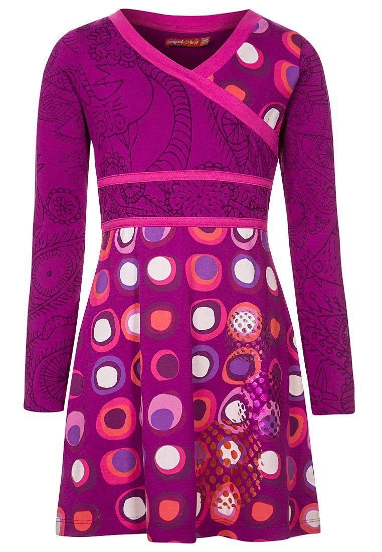 Desigual - CAFFRA - Robe en jersey - mauve (Ottobre 4/2013)