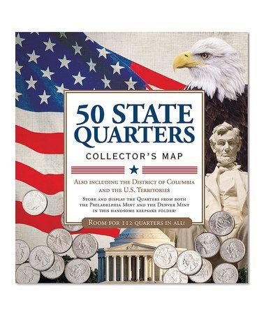 50 State Quarters Collector's Map #zulily #zulilyfinds