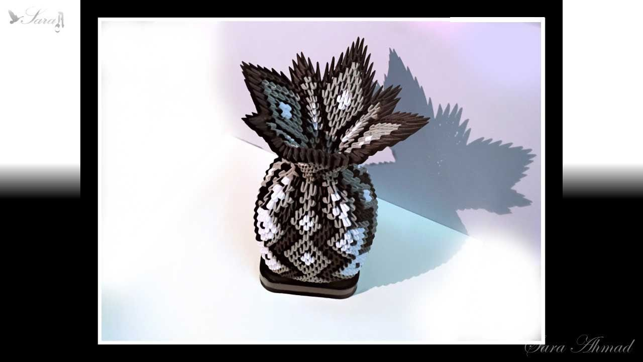 How to make 3d origami vase 21 part 1 sara ahmad 3d origami how to make 3d origami vase 21 part 1 reviewsmspy