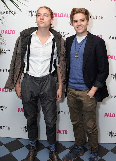 17f05b65eb1 Dylan (Left) and Cole Sprouse (Right) attend The 2014 Tribeca Film Festival  After Party Of Gia Coppola's Palo Alto, Hosted By Farfetch At Up&Down.