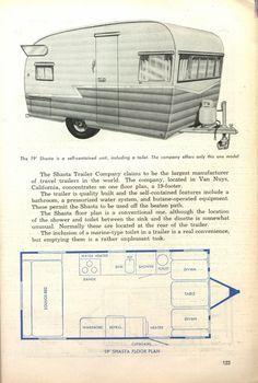 My Shasta Model Travel Trailer Floor Plans Shasta Trailer Vintage Camper Remodel