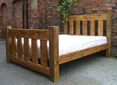 Oakly Rustic Super King Size Bed Wooden King Size Bed Pine Bed