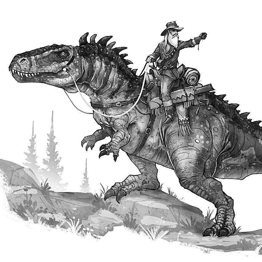 Imagem De Arte Com Tema De Dinossauro Por Andrielflorgomes Em