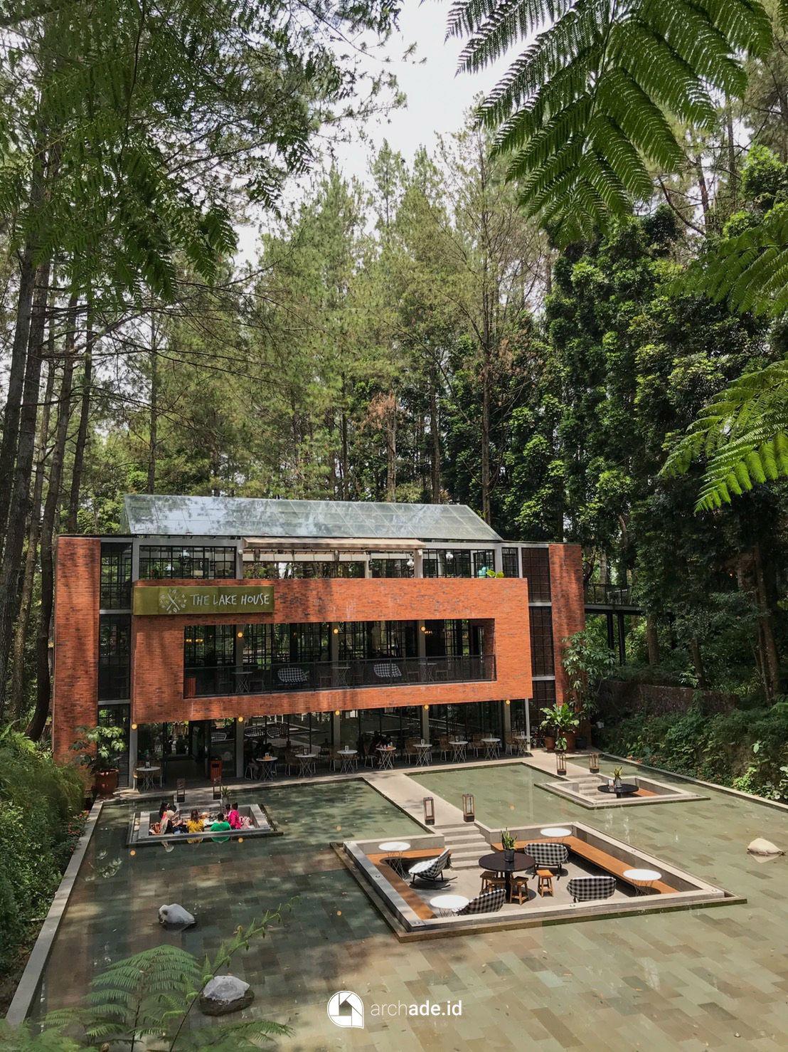 The Lake House Cisarua Di 2020 Arsitektur Batu Bata Pemandangan