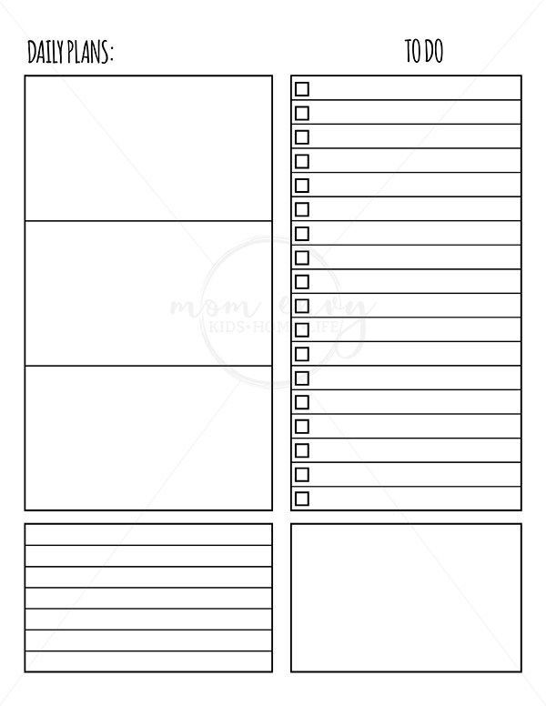 Free Weekly Planner Inserts  Daily Inserts - Available in 3 Sizes