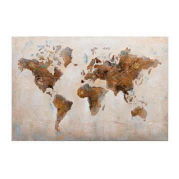 Distressed world map canvas art print canvases distressed world map canvas art print gumiabroncs Image collections