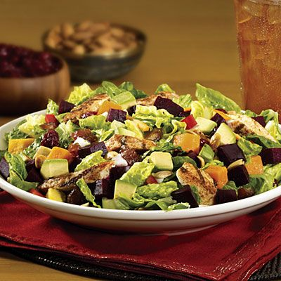 California Pizza Kitchen, Moroccan Chicken Salad.  My favorite CPK salad.  And there are very good copycat recipes on line.