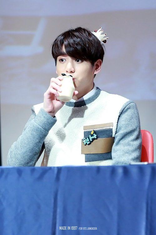 Drinking Banana Milk Instead Of Alcohol Jungkook Bangtan Boys Bts Photo