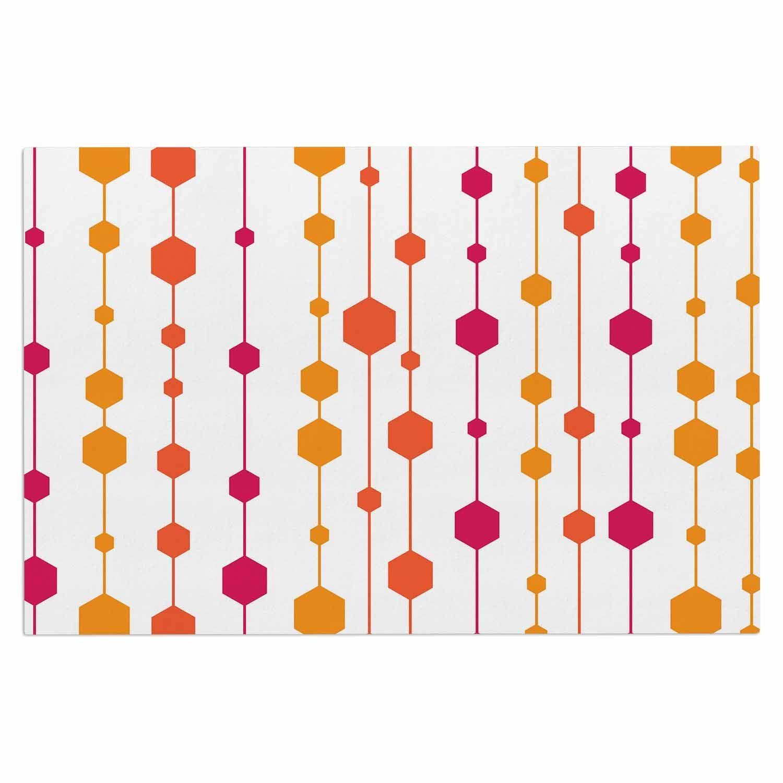 "NL Designs ""Warm Dots"" White Pattern Decorative Door Mat"