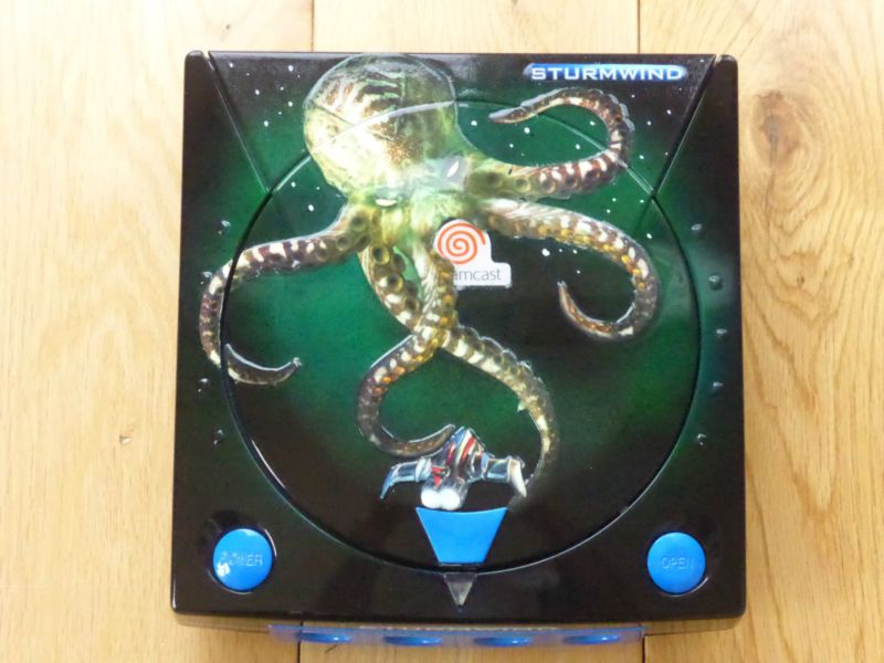 Sturmwind Custom Sega Dreamcast Console  #retrogaming #HotDC  It was done by MAL customs based in the US and as far as I am aware they only did 2 of these. 2 controllers included.