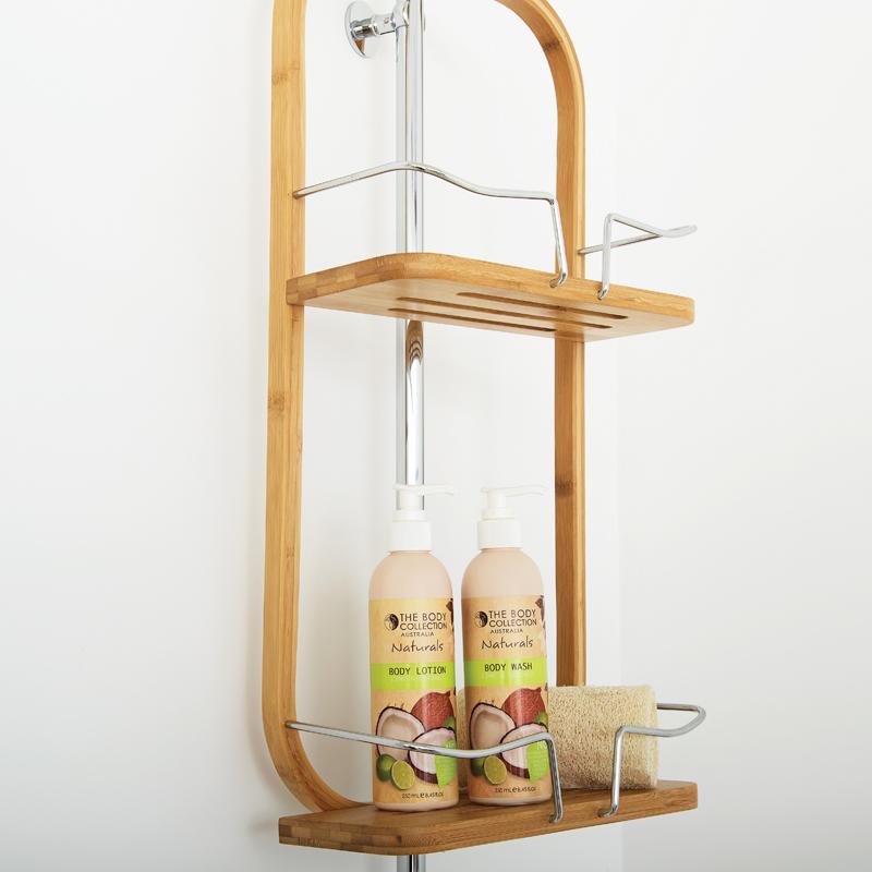 2 Tier Bamboo Shower Caddy