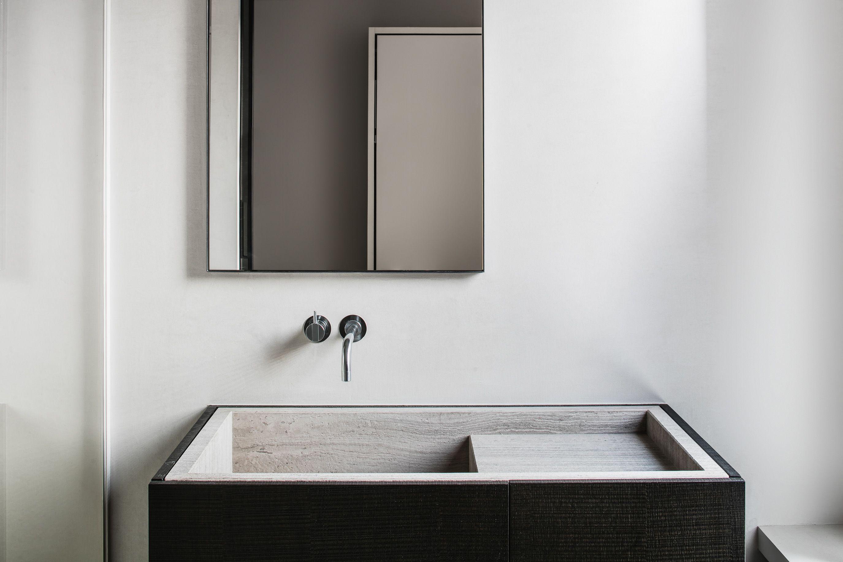 Natuursteen marmer emperador black interieur schouw modern