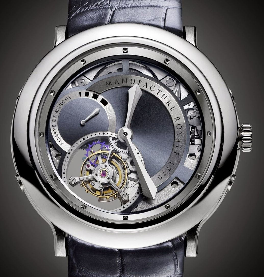 Manufacture Royale 1770 Steel with Openwork Skeleton Dial