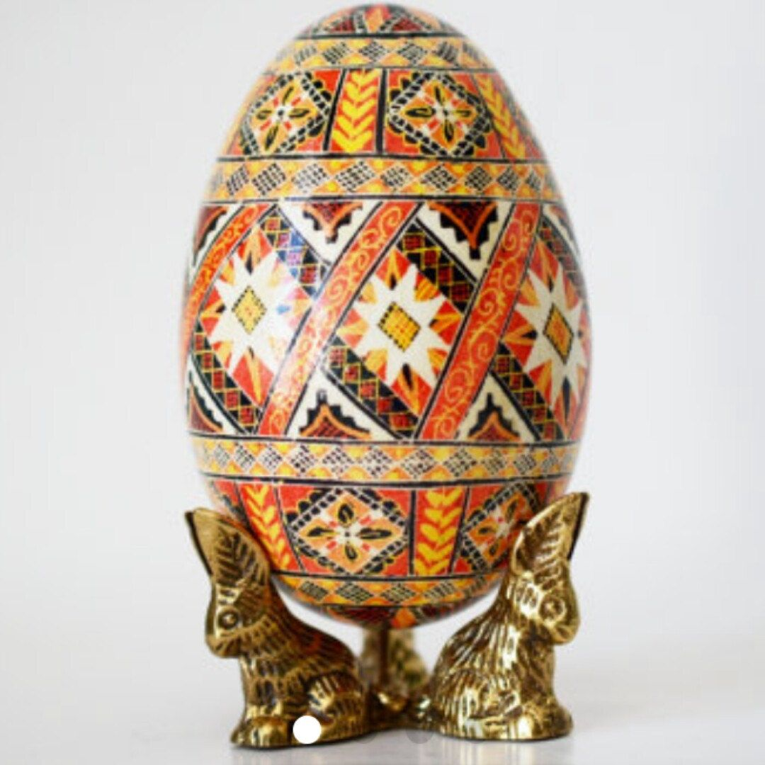 Tell your husband you are pregnant on easter pregnancy reveal in goose egg pysanka makes an amazing gift for easter dinner hostess available with egg negle Image collections