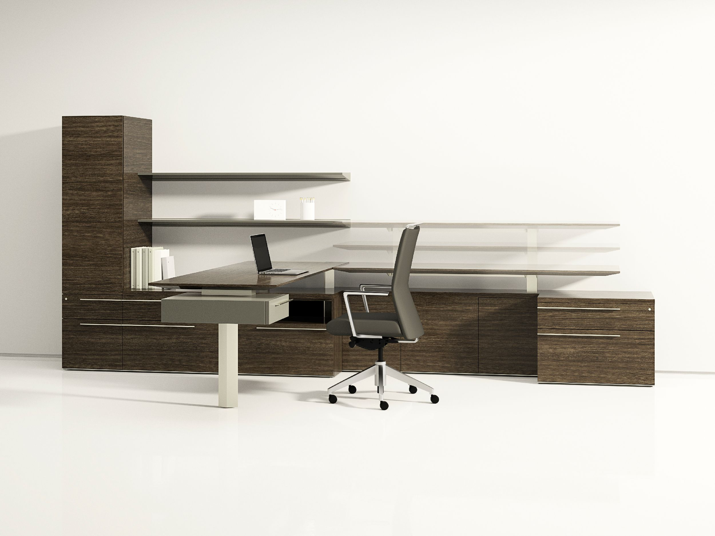 Luxury Wood Sit To Stand Desk Office Furniture Modern Sims 4