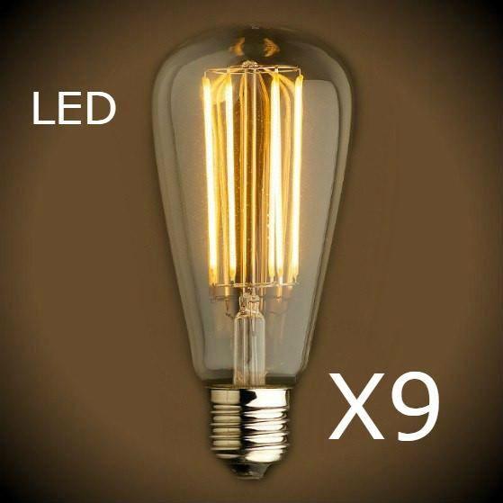 Led Filament Edison Light Bulb St21 Vintage 9 Bulb Pack Edison Light Bulbs Vintage Light Bulbs Vintage Edison Bulbs
