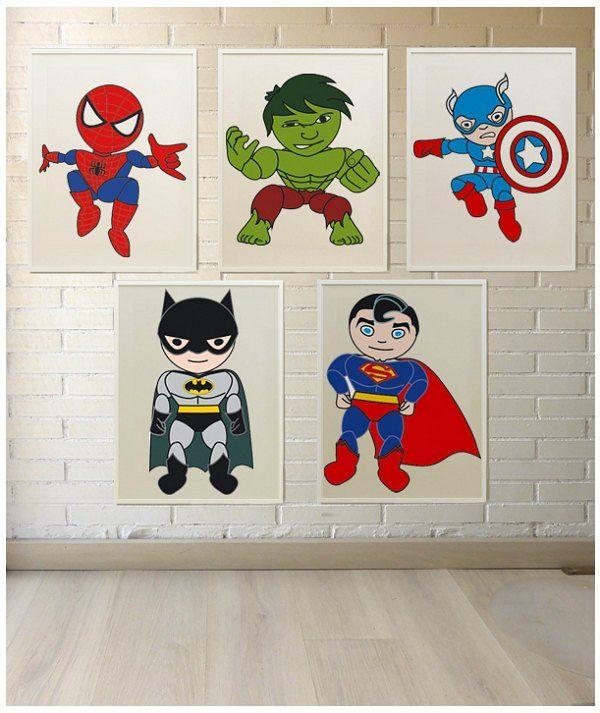 L minas de superheroes para decorar superheroes drawing - Laminas para decorar ...